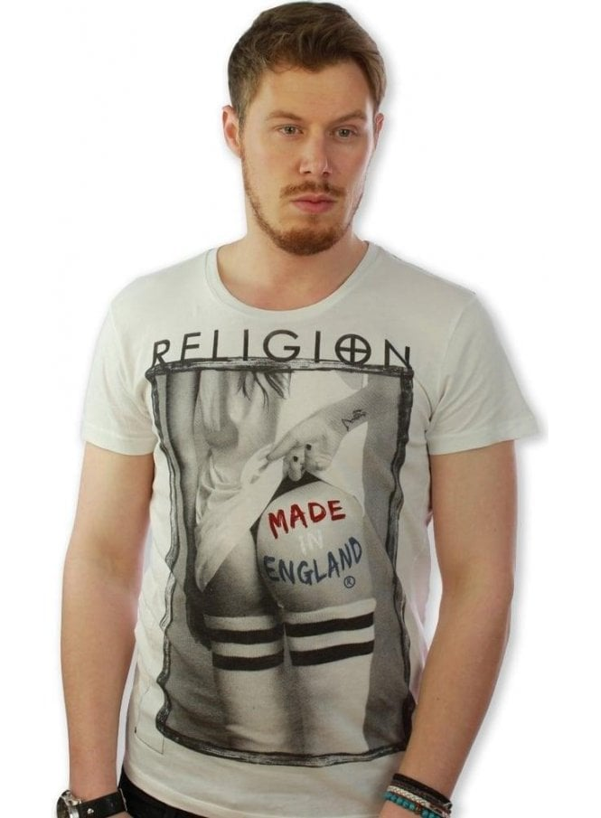 RELIGION Made In England Ss Crew Neck Tshirt White