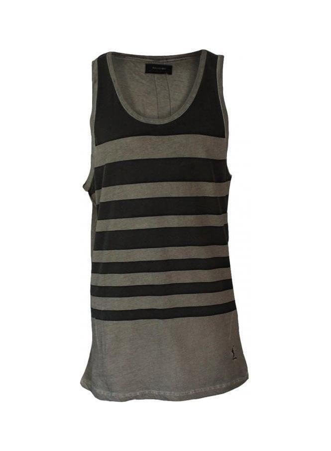RELIGION Oil Wash Stripe Vest Rock Wash (spring & summer 15)