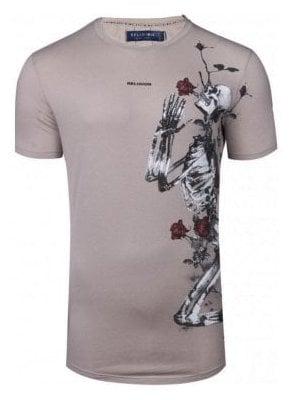 Pray Curved Hem Ashes Of Roses T-Shirt