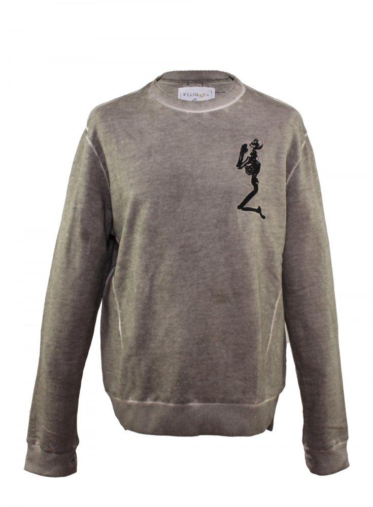 RELIGION Grey Sweatshirt ...