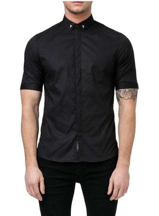 RELIGION Skull Shirt Black