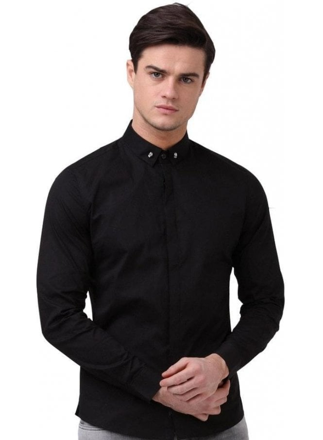 RELIGION Skull Shirt Black