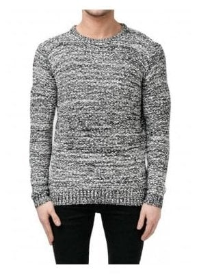 Static Sweater Chunky Knitwear White/black