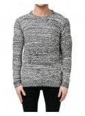 RELIGION Static Sweater Chunky Knitwear White/black