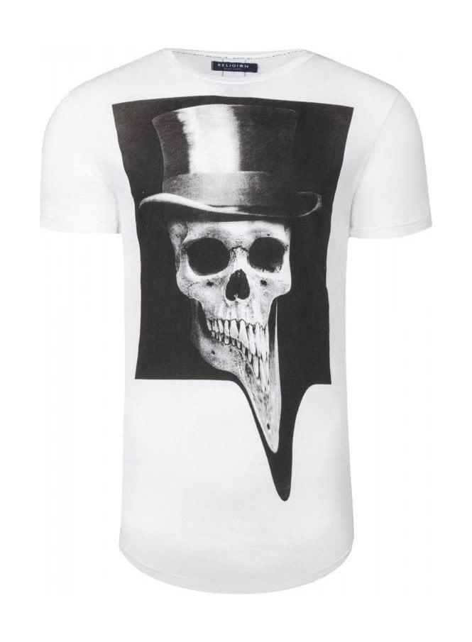 RELIGION Top Hat Curve Hem T-Shirt