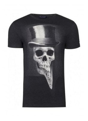 Top Hat Curve Hem T-Shirt