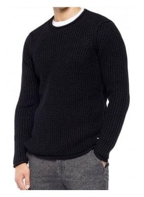 3D Knit Sweater Enzymes Black