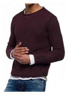 3D Knit Sweater Enzymes Bordeaux