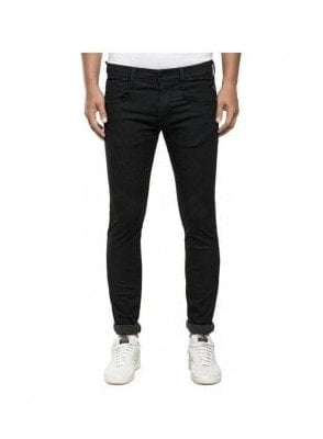 Replay Anbass Hyperfree Stretch Denim Slim Fit Jean Black