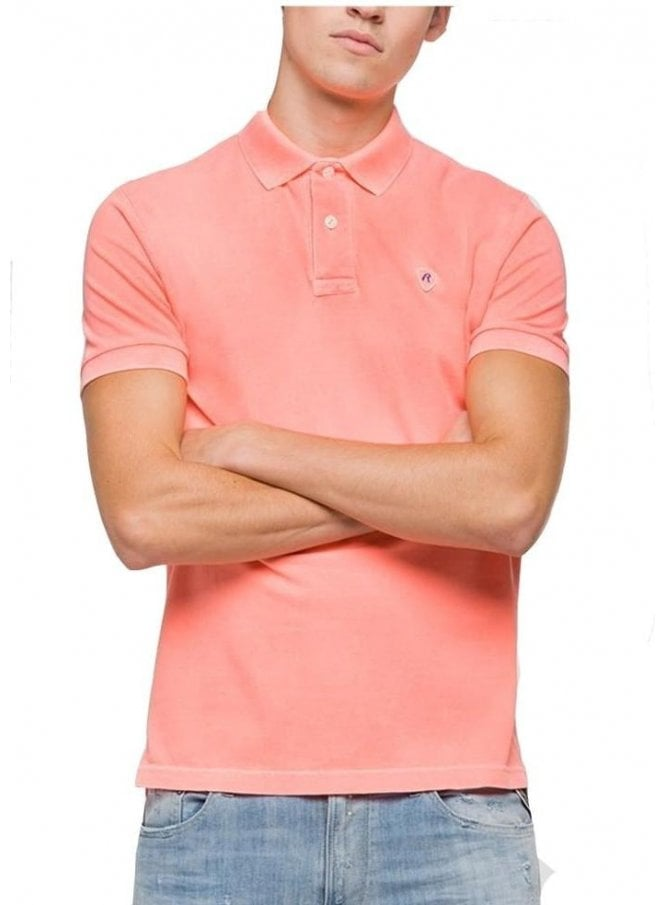REPLAY Basic Polo Coral Fluo