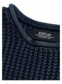 REPLAY Crew Neck Chunky Knit Jumper Navy 970