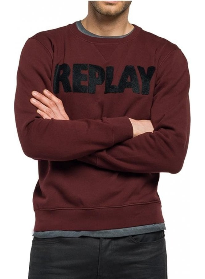 REPLAY Crew Neck Logo Branded Sweater 901