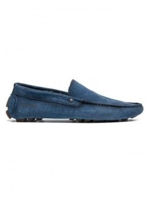 Custer Moccasin Style Suede Loafer Blue