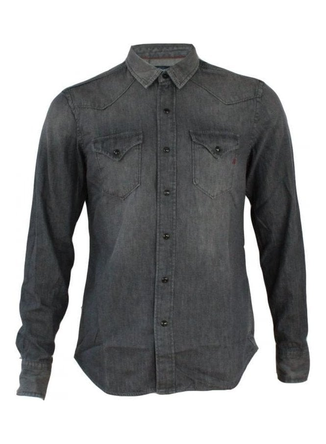 REPLAY Denim Grey Long Sleeve Shirt 010