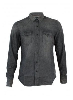 Denim Grey Long Sleeve Shirt 010