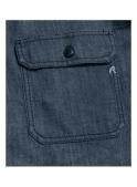 REPLAY Denim Long Sleeve Pocket Shirt Indigo Denim