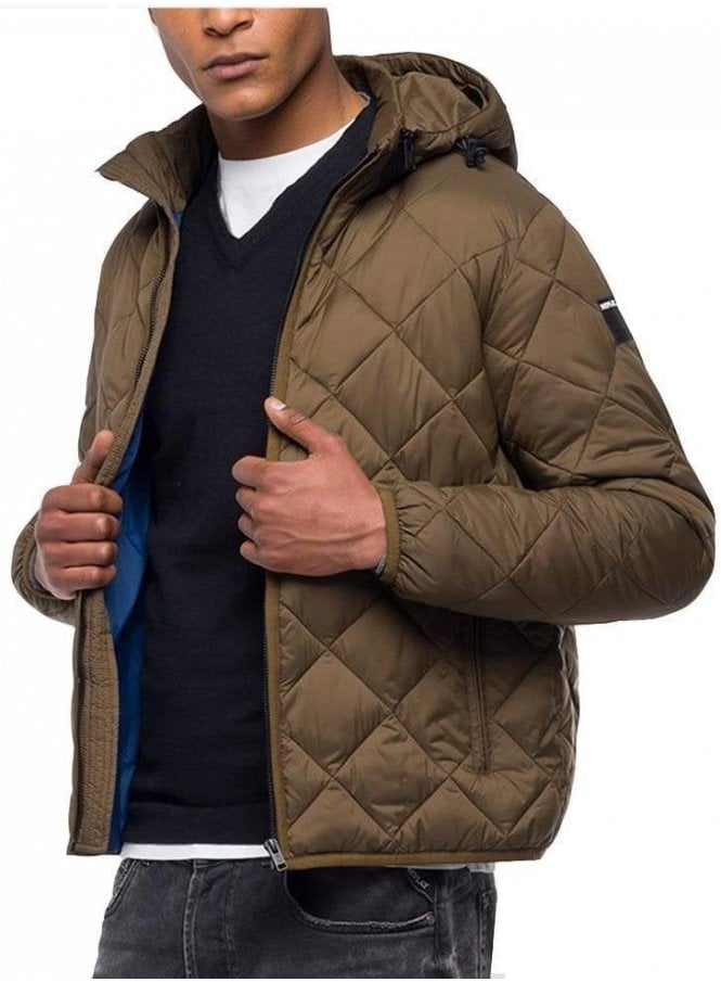 REPLAY Down Jacket Diamond Quilted Rust
