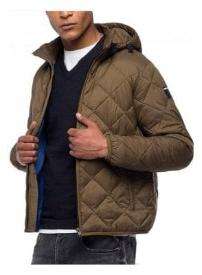 Down Jacket Diamond Quilted Rust