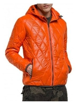 Duckfree Zip Off Hood Puffa quilted Jacket Orange