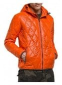 REPLAY Duckfree Zip Off Hood Puffa quilted Jacket Orange