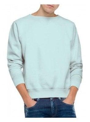 Enzyme Wash Garment Dyed Sweatshirt Pale Blue