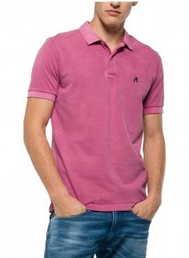 Enzyme Wash Polo Tshirt Lilac