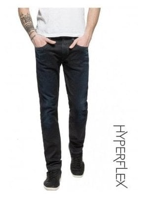 Hyperflex Anbass Regular Slim Fit Jeans (Black Blue Edition Dark)