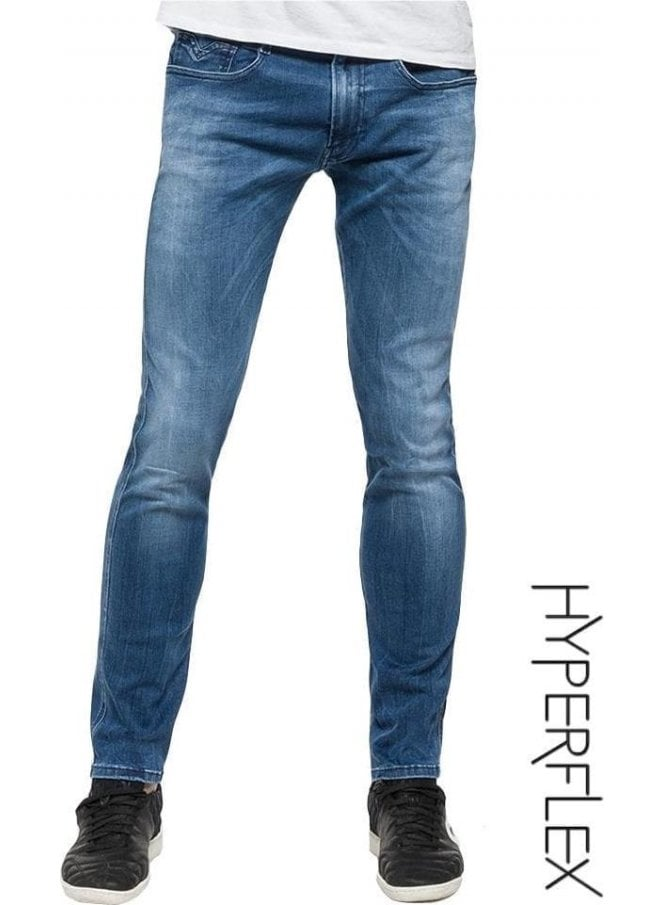 REPLAY Hyperflex Anbass Regular Slim Fit Jeans (Denim)