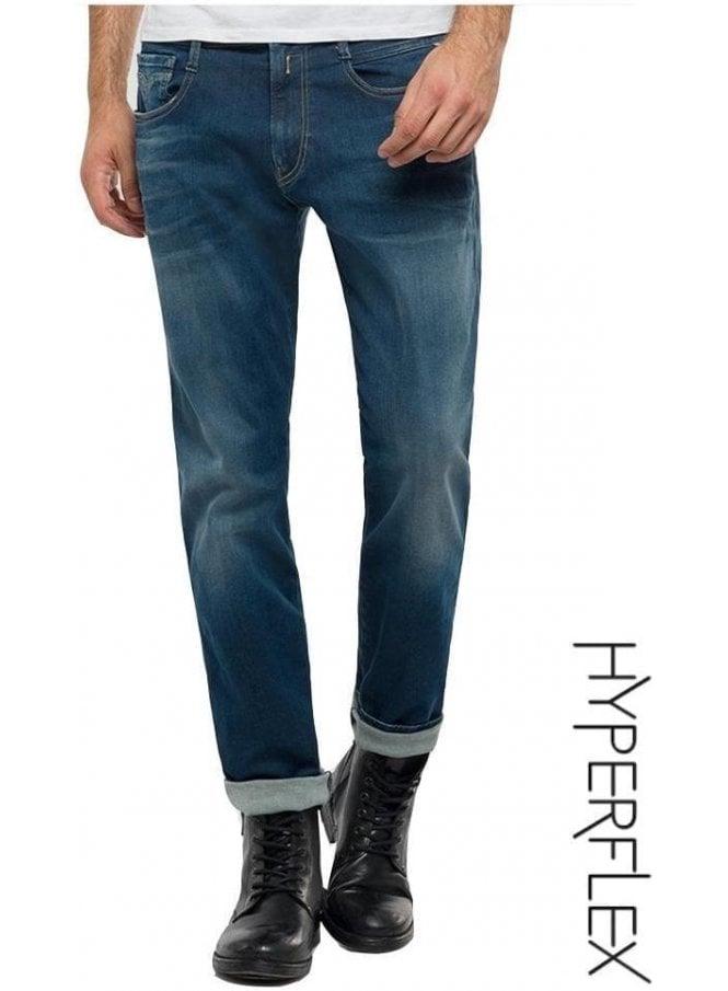 REPLAY Hyperflex Anbass Regular Slim Fit Jeans ( Medium Dark)