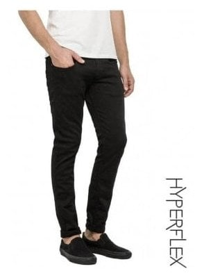 Hyperflex Anbass Regular Slim Fit Jeans (True Black)