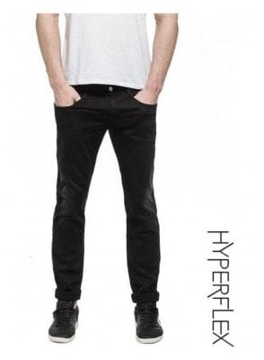 Hyperflex Anbass Regular Slim Fit Jeans (Washed Black)