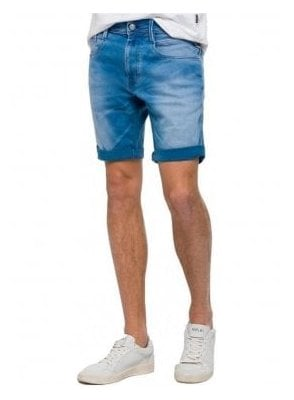 Hyperflex Denim Double Indigo Shorts 009