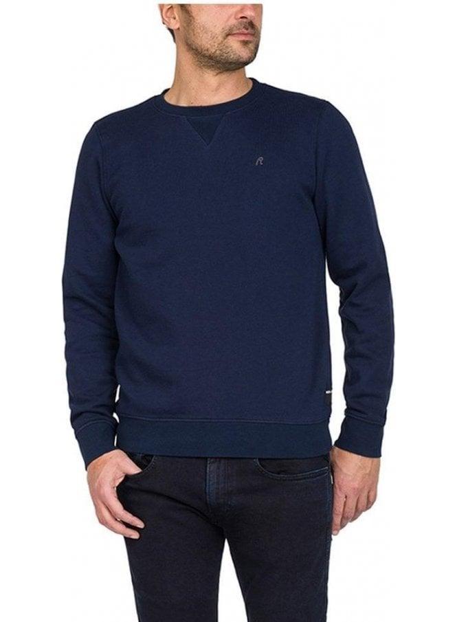 REPLAY Long Sleeve Sweatshirt Blue
