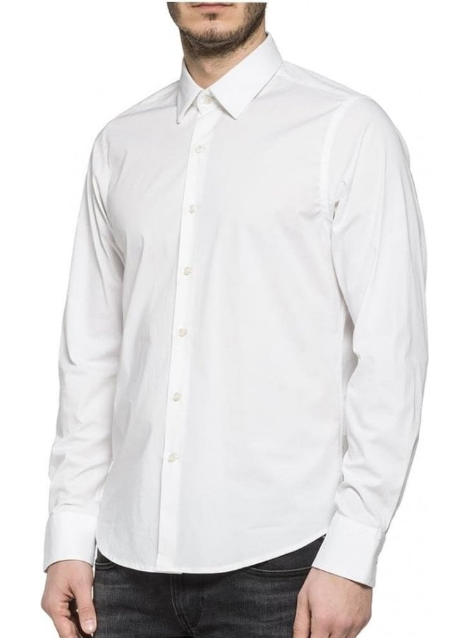 REPLAY Long Sleeved Shirt White