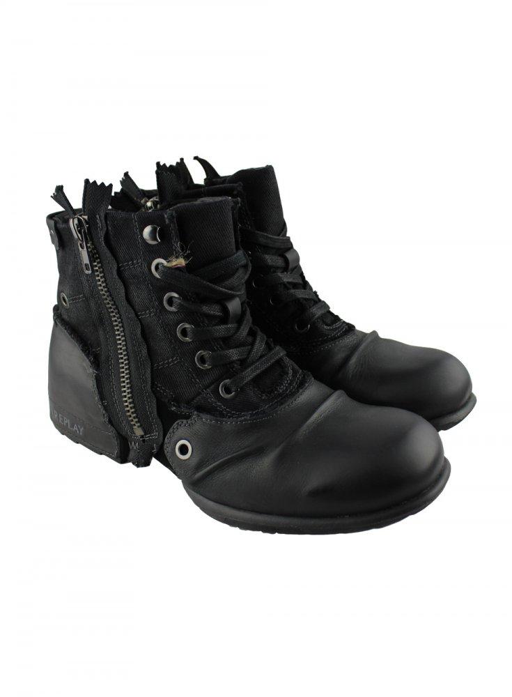 replay replay mens black boots replay from ghia menswear uk