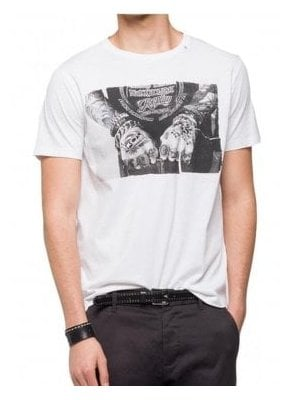 Mens Hands Tattoo Tee Shirt 001