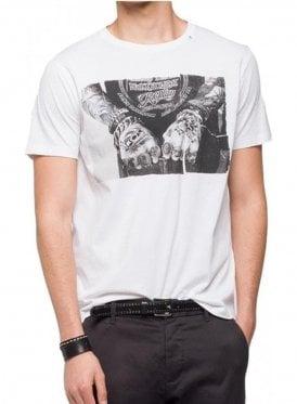 Mens Hands Tattoo Tee Shirt 001