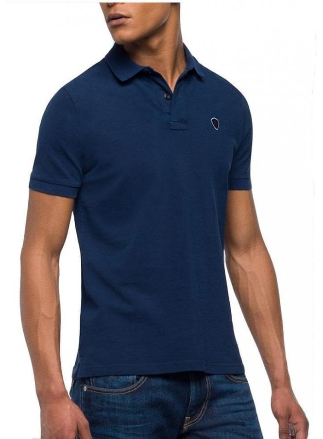 REPLAY Pique Polo T Shirt Garment-Dyed