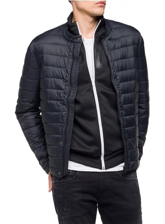 REPLAY Puffa Zip Jacket Black