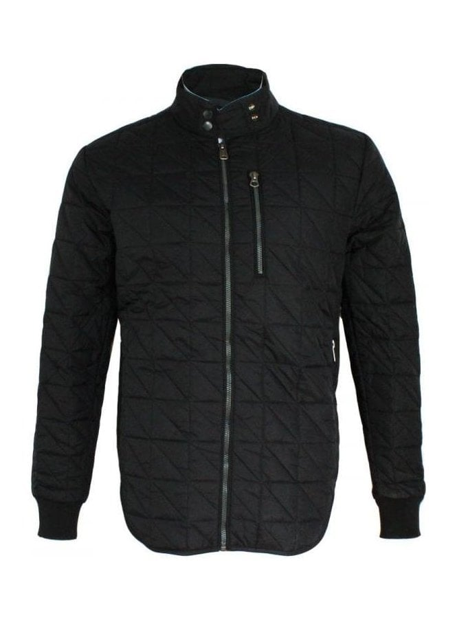 REPLAY Quilted Jacket Black