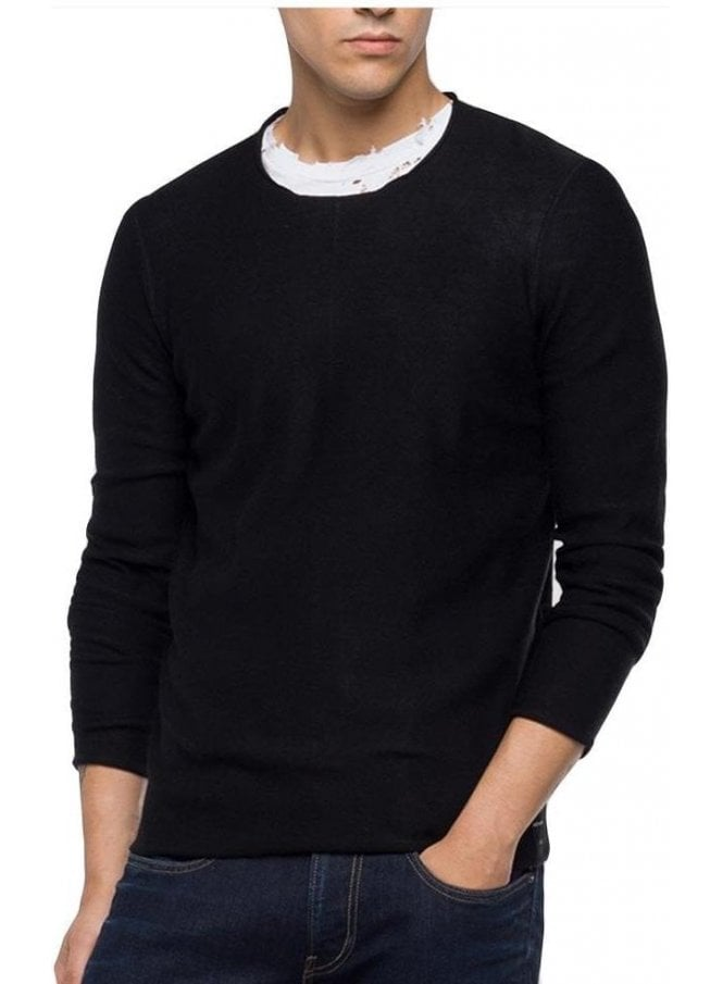 REPLAY Raw Cut Sweater Stitchings