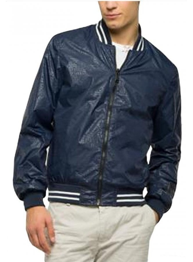 REPLAY Reversible Bomber Jacket Navy