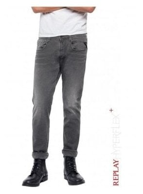 Slim Fit Hyperflex + Anbass Jeans - Grey Denim