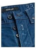 REPLAY Waitom Resinplus+ Regular Slim Tapered Blue Coated Indigo Denim