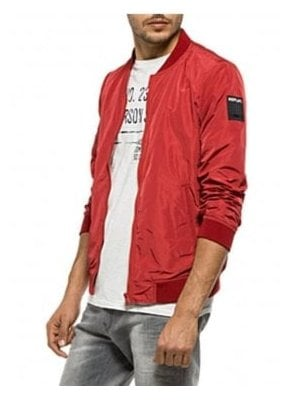 Zip Bomber Jacket Red