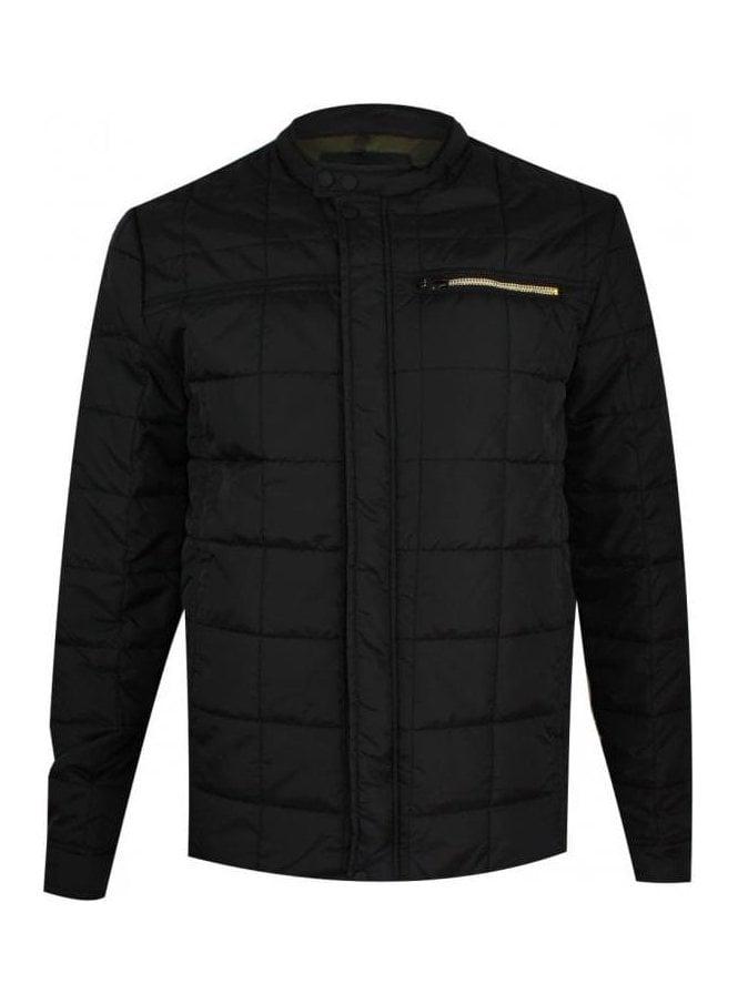 REPLAY Zip Detail Puffa Jacket Black