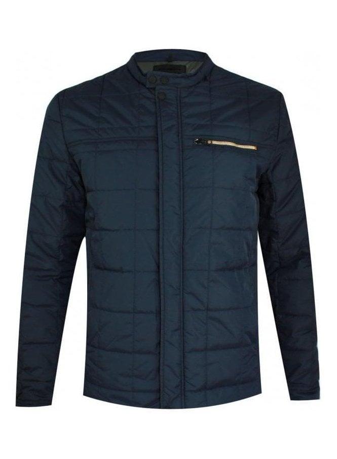 REPLAY Zip Detail Puffa Jacket Navy