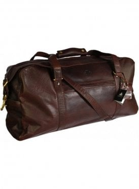 Mexico Large Buffalo Leather Weekender Dark Brown