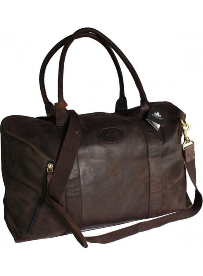 ROWALLAN Weekend • Holdall • Travel • Gym • Leather Brown Bag MANAGERS SPECIAL