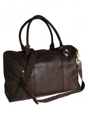Weekend • Holdall • Travel • Gym • Leather Brown Bag